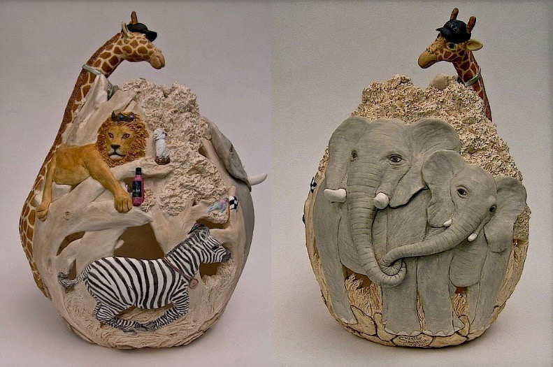 Kaolin Pottery Gt. Barrington, MA ceramic art gallery custom clay Safari theme