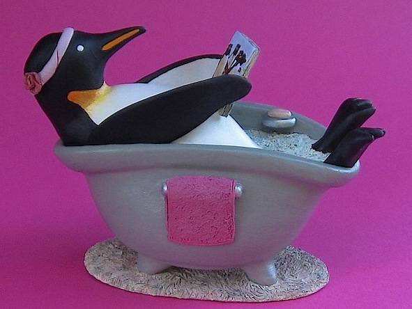 Kaolin Pottery Gt. Barrington, MA ceramic art gallery custom clay penguin bathin