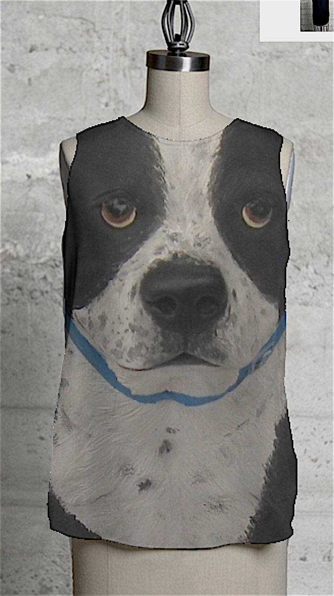 Dog black&white elegant whimsy shirt,MissyKaolin VIDA,animal clothes,all sizes