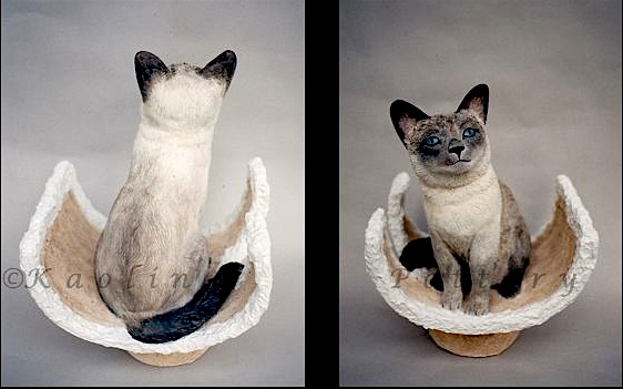 Kaolin Pottery Gt. Barrington, MA ceramic art gallery custom clay siamese cat